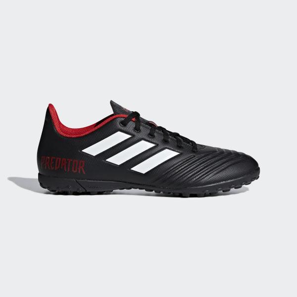 Zapatos de Fútbol Predator Tango 18.4 Césped Artificial CORE BLACK FTWR  WHITE RED DB2143 8af70793a2d38