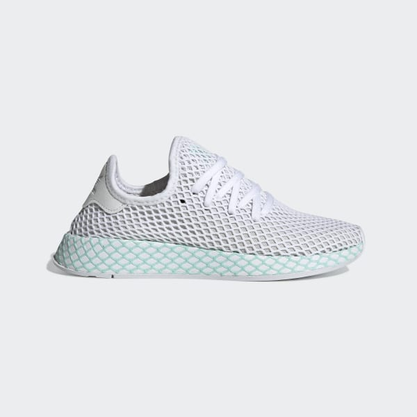 size 40 ba236 0a619 Deerupt Runner Shoes Ftwr White  Grey One  Clear Mint CG6089