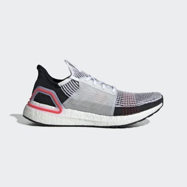 UltraBOOST 19 Shoes Ftwr White   Chalk White   Active Red B37703 73d078dcd
