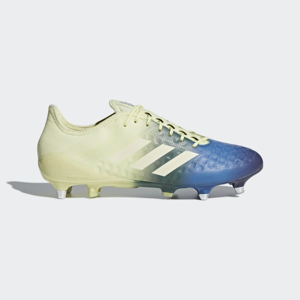 official photos 2ed4e 5a54d Bota de rugby Predator Malice Control césped natural húmedo Ice Yellow   Cream White  Trace