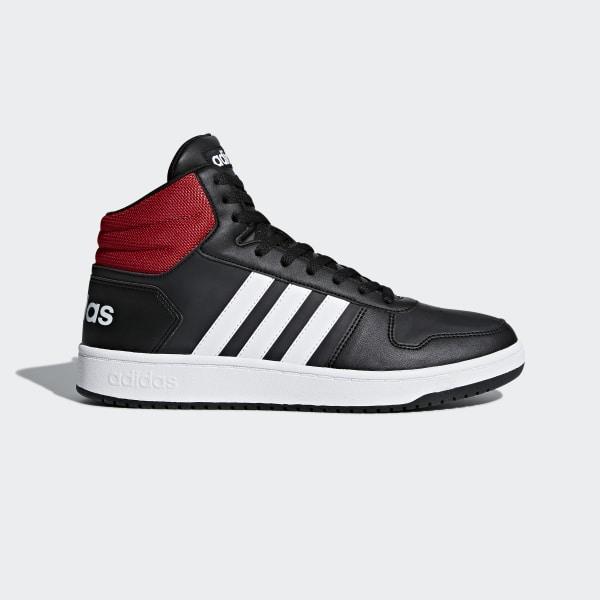 405327f7b3 Hoops 2.0 Mid Shoes Core Black   Cloud White   Scarlet DB0079