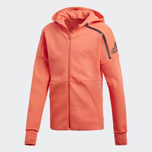 buy online 11086 dcc58 adidas Z.N.E. 2 Hoodie OrangeReal CoralBlack CF6684