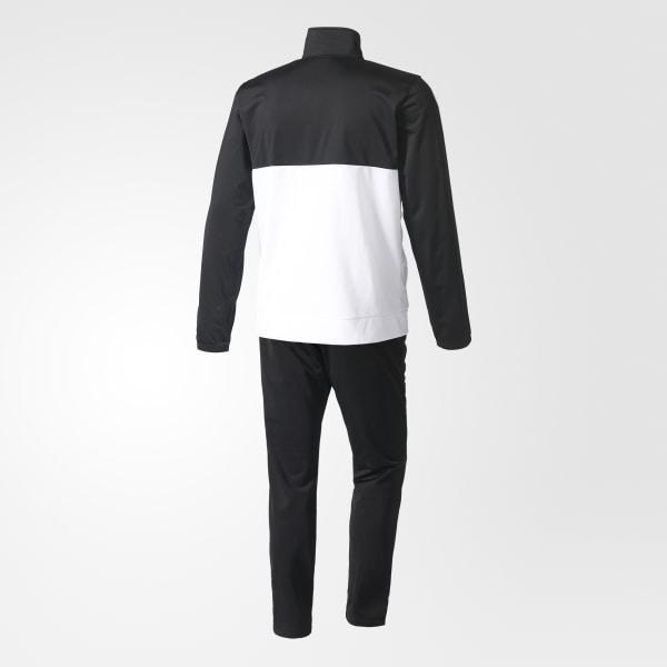 681ba11026d Back 2 Basics 3-Stripes Track Suit Black   White   White BK4091