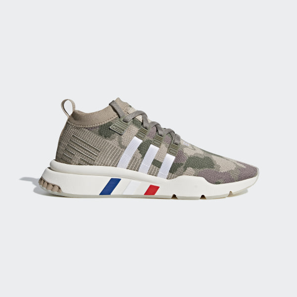 154b5ec6ad3 EQT Support Mid ADV Primeknit Shoes Trace Khaki   Steel   Chalk White B37513