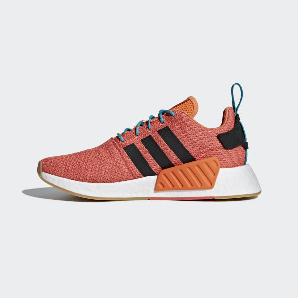 574ac0802 NMD R2 Summer Shoes Trace Orange   Gum 3   Ftwr White CQ3081