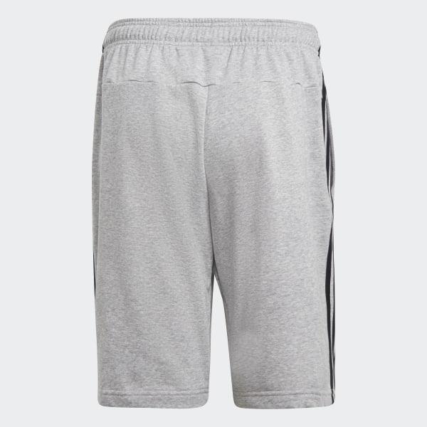 27279439e9 Essentials 3-Stripes French Terry Shorts Medium Grey Heather DU7831