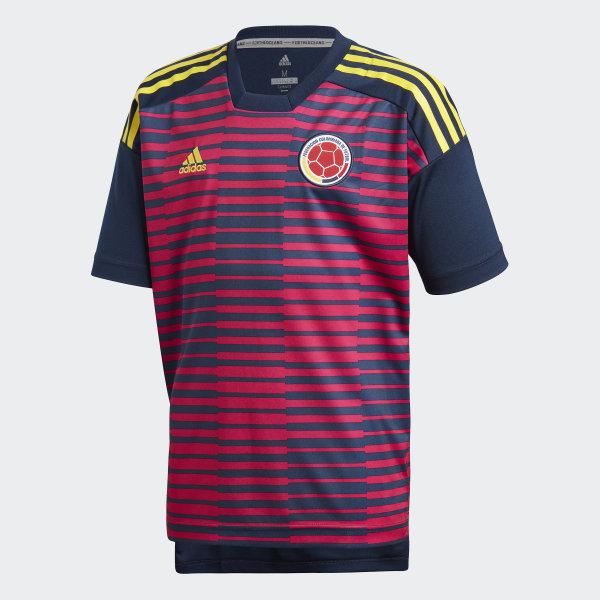 Camiseta Prepartido Selección de Colombia Local Niño 2018 BOLD  PINK COLLEGIATE NAVY CF1548 e0ba4458c38f6