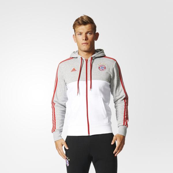 d5c29247b71bf Polerón FC Bayern Munich MEDIUM GREY HEATHER WHITE FCB TRUE RED AZ5318