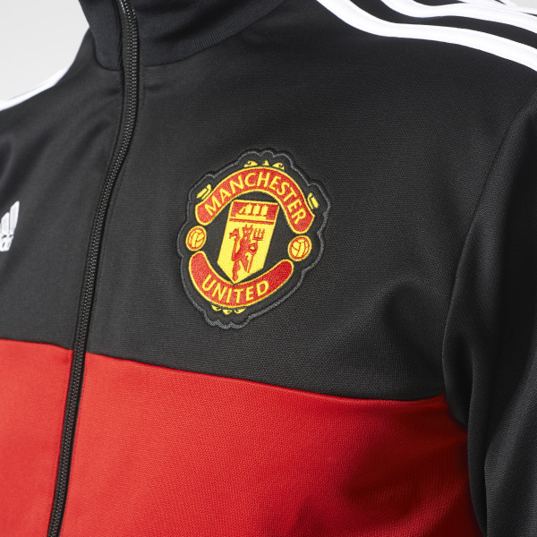 deae3f8e5a811 Manchester United 3-Stripes Track Jacket Black   Real Red   White AZ3666