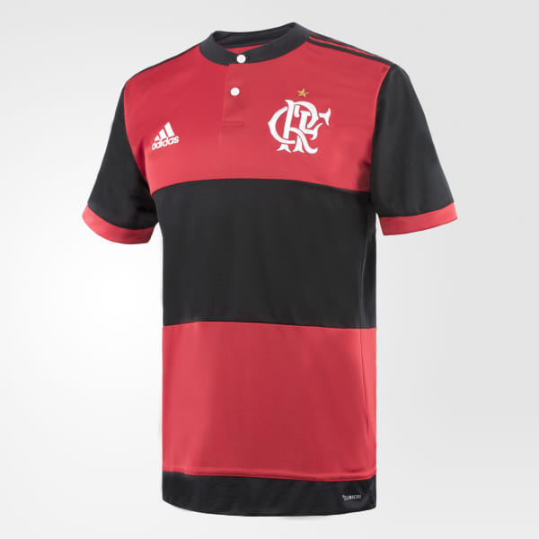 b309e6a8c7916 Camisa CR Flamengo 1 BLACK COLLEGIATE RED BK7089