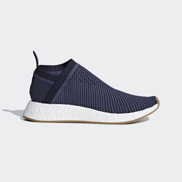1505f6eefeeef NMD CS2 Primeknit Shoes Trace Blue   Light Solid Grey   Gum D96741