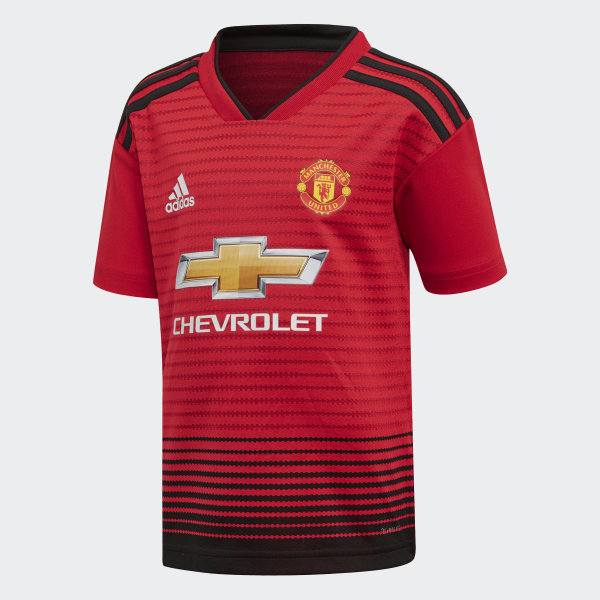 Manchester United Home Mini Kit Real Red   Black CG0058 58658546d