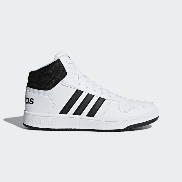 newest 6062e 490c7 Hoops 2.0 Mid Shoes Cloud White   Core Black   Core Black BB7208