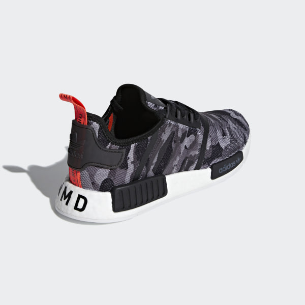 be194c99a153f NMD R1 Shoes grey four f17   grey four f17   solar red G27913