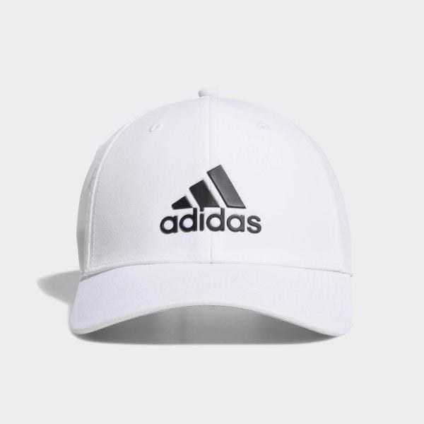adidas A-Stretch adidas Badge of Sport Tour Hat - White  350495b9091