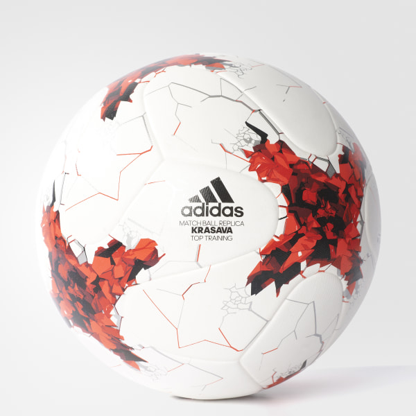Pelota de Fútbol Copa FIFA Confederaciones Top Réplica WHITE RED POWER  RED CLEAR 3b00565d4c604