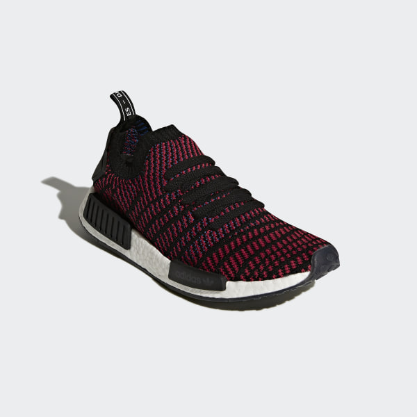 5c9183286 NMD R1 STLT Primeknit Shoes Red   Core Black   Red   Blue CQ2385
