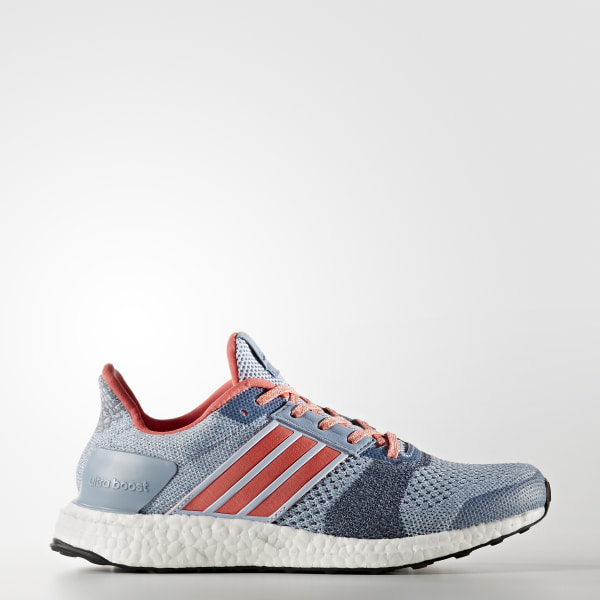 f679b859033e0 Tenis Ultra Boost ST EASY BLUE HAZE CORAL DGH SOLID GREY BA7835
