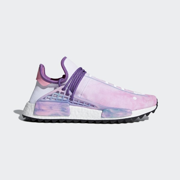 f4b772105c4c2 Pharrell Williams Hu Holi NMD MC Shoes Pink Glow   Lab Green   Flash Purple  AC7362