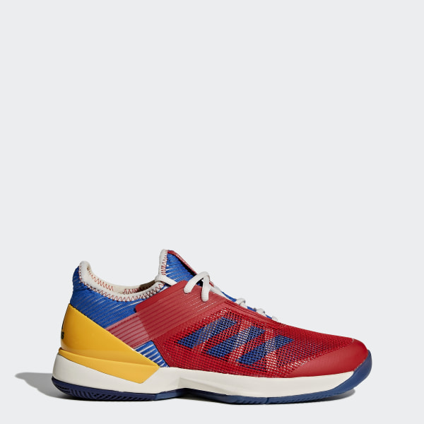 separation shoes c33a4 50bc5 Tenis adizero ubersonic 3 w Pharrell W CHALK WHITE BLUE COLLEGIATE GOLD  S81005