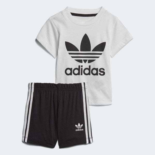86cc58ff5cdb3 Conjunto camiseta y pantalón corto White   Black CE1993
