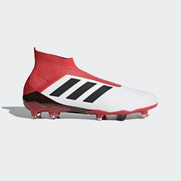 adidas Predator 18+ Firm Ground Cleats - White  07c208b884e73