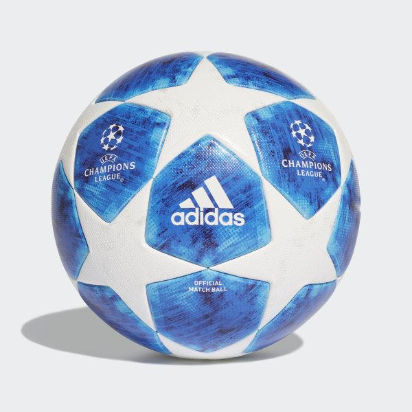 04842d74d52d6 Balón Finale 18 Oficial WHITE FOOTBALL BLUE BRIGHT CYAN COLLEGIATE ROYAL  CW4133