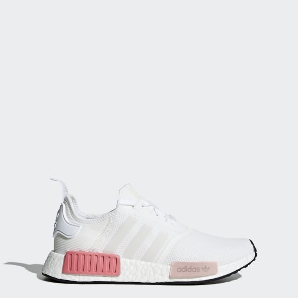 9c3895a01 NMD R1 Shoes Cloud White   Cloud White   Icey Pink BY9952