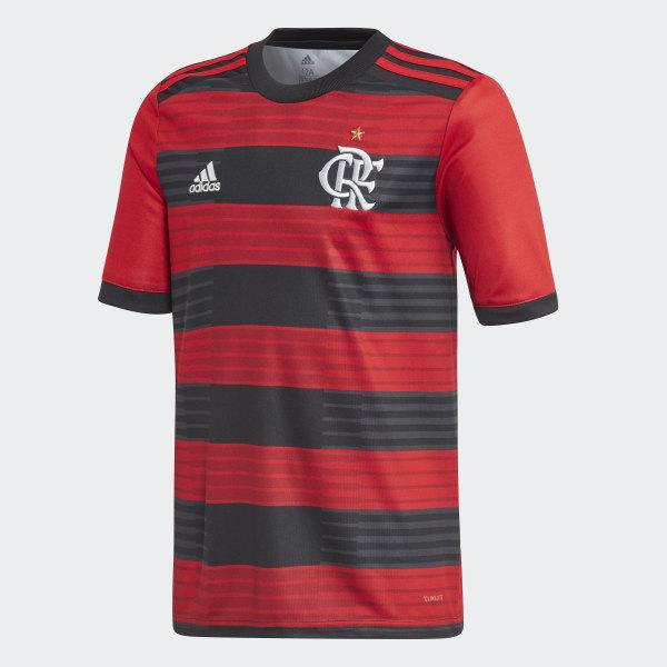 ORG  0ebc2282ff1 Camisa CR Flamengo 1 Infantil - Vermelho adidas adidas  Brasil ... 690234f705caf