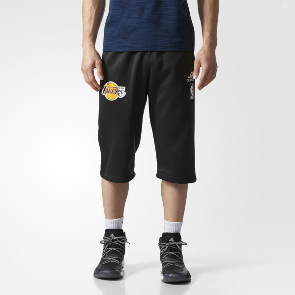 d2f8f082cdf3 adidas Lakers Practice Half Pants - Multicolor