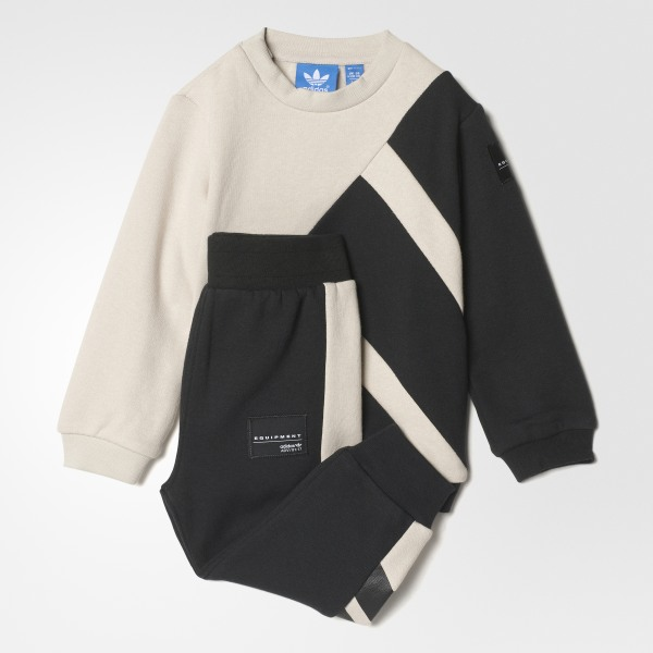 02feb71d4826 EQT Crew Sweatshirt Set Clear Brown   Black BK5625
