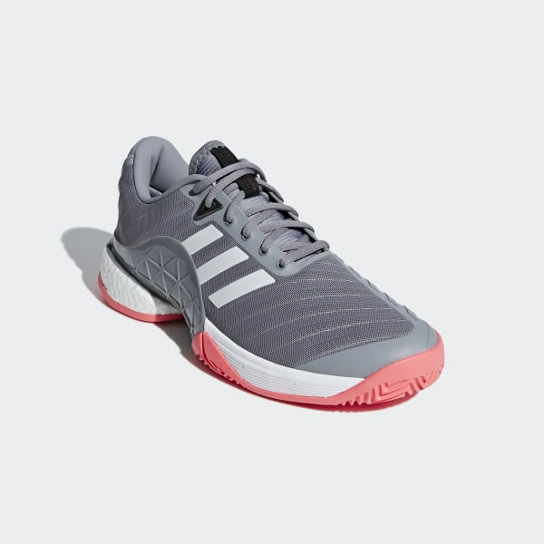 best website f371d ce387 Barricade 2018 Boost Shoes Cloud White  Matte Silver  Scarlet AH2094