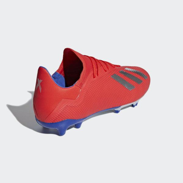 Scarpe da calcio X 18.3 Firm Ground Active Red   Silver Met.   Bold Blue d699a42d8bf
