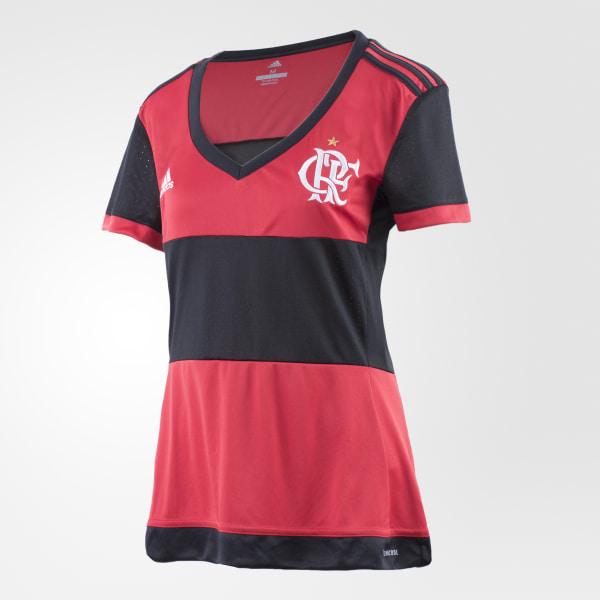 ce35c0cbd9 Camisa Flamengo 1 Feminina BLACK COLLEGIATE RED BK7101