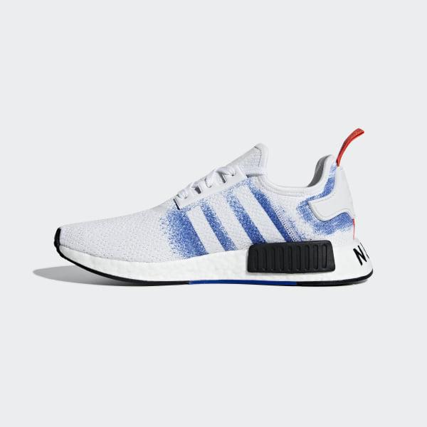 eabb67a9f26 NMD R1 Shoes ftwr white   bold blue   core black G27916