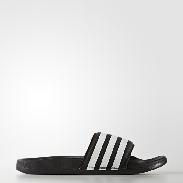 dd69546d362df adilette Cloudfoam Plus Stripes Slides Core Black Footwear White S80420