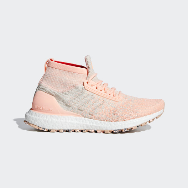18bbed50e74 Ultraboost All Terrain Shoes Pink   Off White   Raw White F36128
