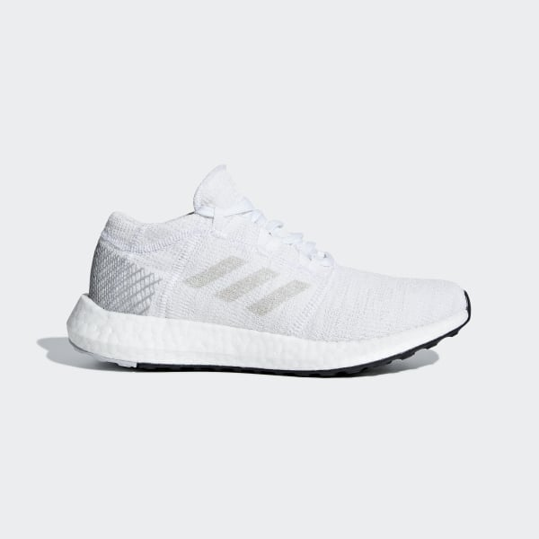 d46740912e5 Pureboost Go Shoes Cloud White   Grey One   Grey Two B43504