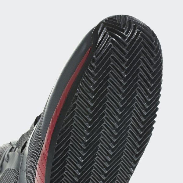 c447345b3a9df adizero Defiant Bounce Shoes Light Granite   Shock Red   Core Black CG6349