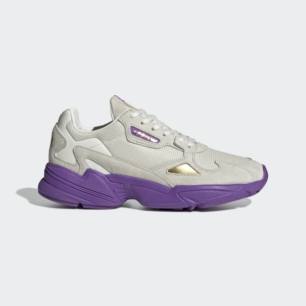 new product 7697d f3bd1 Originals x TfL Falcon Shoes Off White  Collegiate Purple  Gold Met.  EE7882