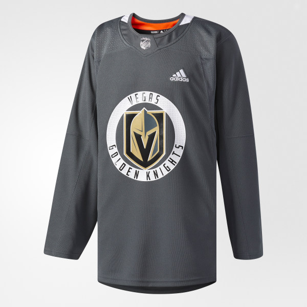 adidas Golden Knights Authentic Practice Jersey - Grey  56546ec40