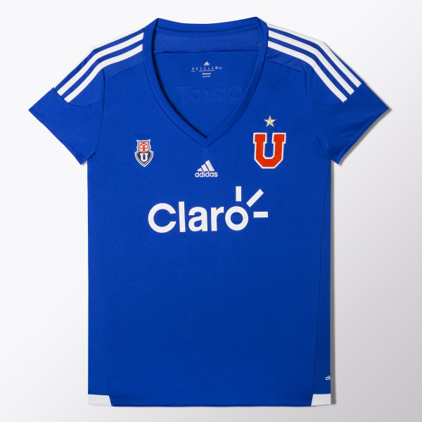 Camiseta Local Universidad de Chile 2015 2016 Mujer BOLD BLUE WHITE S07586 1a3760cfd3e25