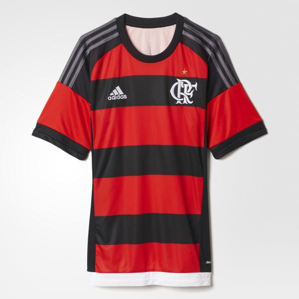 Camiseta Local CR Flamengo 2015 2016 RED BLACK GRANITE S12957 3a55227597ba5