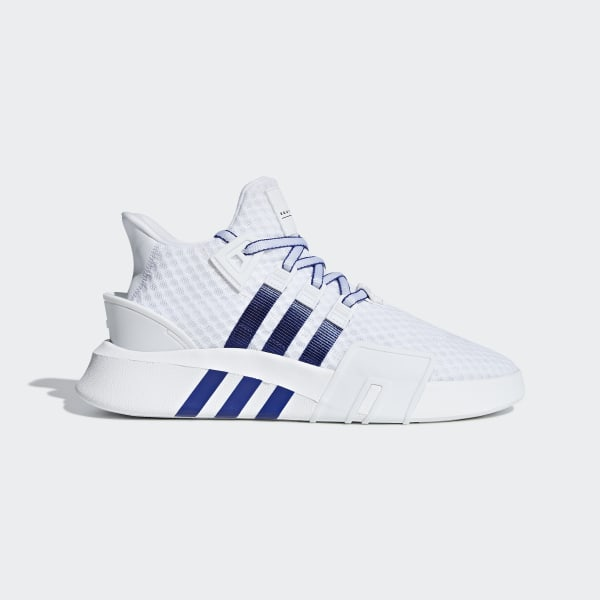 buy popular f4d11 fa888 EQT Bask ADV Shoes Ftwr White  Active Blue  Core Black BD7782