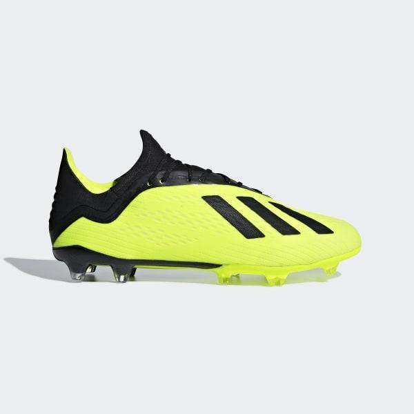 5da64a4fa9d1c Zapatos de Fútbol X 18.2 Terreno Firme SOLAR YELLOW CORE BLACK FTWR WHITE  DB2180