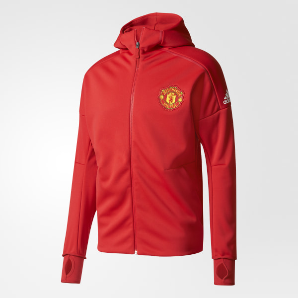 f348026a1b856 Manchester United Saco con Capucha Anthem adidas Z.N.E. REAL RED POWER RED  BQ8743