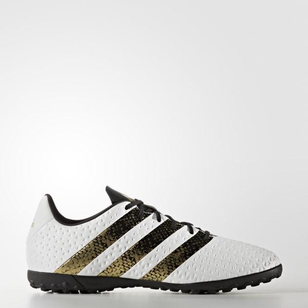 Zapatos de fútbol para césped artificial ACE 16.4 FTWR WHITE   CORE BLACK   GOLD  MET f122a05684dd0