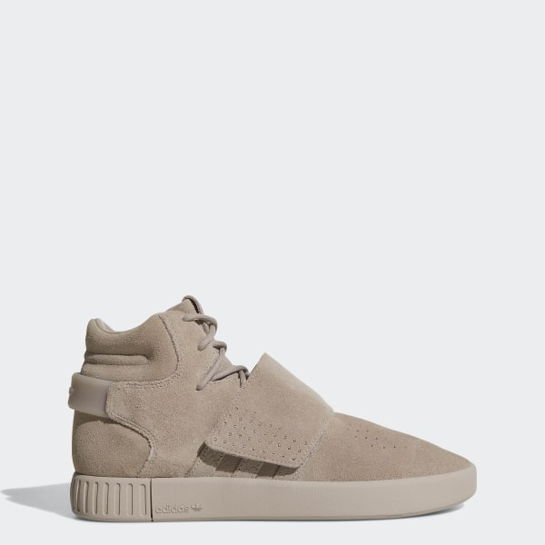 27fc6e90b801 Tubular Invader Strap Shoes Grey   Grey   Cloud White BY3633