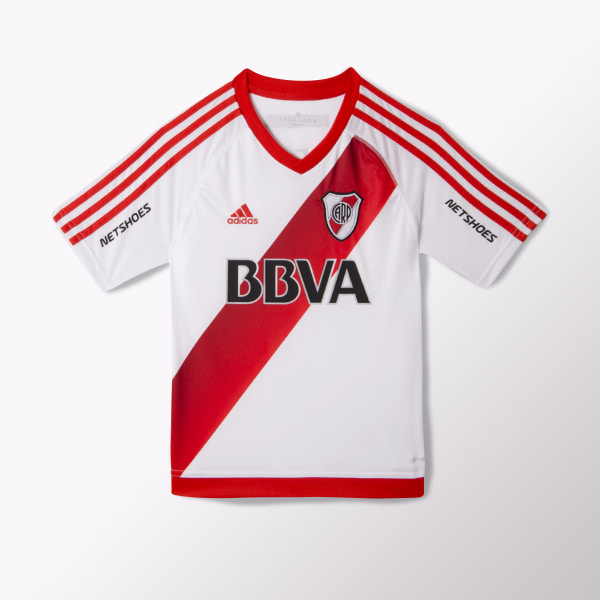 Jersey Local River Plate Junior WHITE   RED   POWER RED AO3481 b192d0c168384