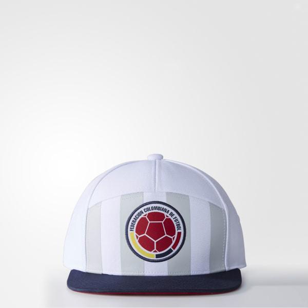 1c4f4ef79bb Colombia 3-Stripes Hat White   Collegiate Navy AP8904